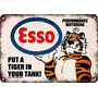 Poster Carteles Antiguos De Chapa 30x45cm Esso Tiger Pe-031