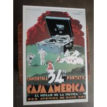 Poster Reproduccion Publicidad Casa America