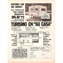 Publicidad Antigua Casa Rodante Arya ´73