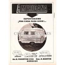 Publicidad Antigua Casa Rodante Americana