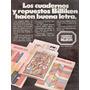 Cuadernos Billiken Publicidad Decada ´70