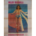 Poster Mujer Maravilla, Wonder Woman Raro, Antiguo 1978