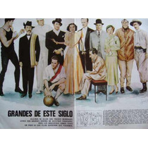Personajes Siglo Gardel Peron Bernabe Firpo Discepolo Poster