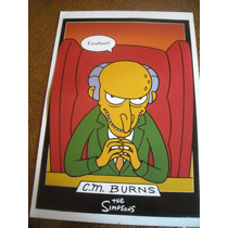 Imperdible Poster Original Dibujitos Los Simpsons Mr Burns