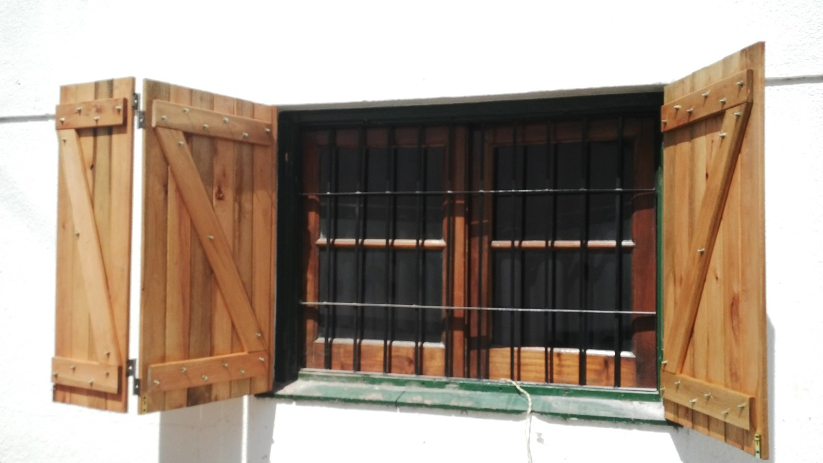 Para nuestra familia como hacer postigos de madera para for Ventanas de pvc tipo madera