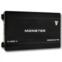 Potencia Monster 2600watts 4 Canales 1300rms M650 Auto Barco