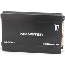 Potencia Monster M 650.4 2600 Watts 4 Canales Local Belgrano