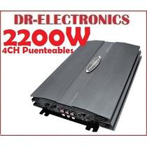 Potencia Powerpack 2200w 4ch Puenteable Pioneer Boss Mtx