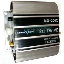 Potencia Magixson Mg-201x 2 Canales 120w Ideal Motos/autos