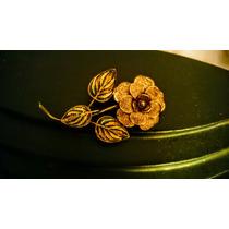 Prendedor De Plata En Forma De Flor