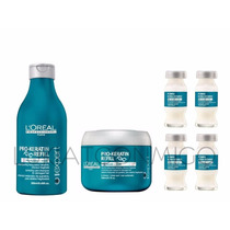 Shampoo Mascara Ampollas Pro Keratin Loreal Shock Keratina
