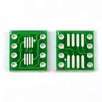 Dos Adaptadores P/ Sop8 So8 Soic8 Tssop8 Msop8 A Dip 8 Pcb