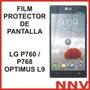 Film Protector De Pantalla Lg P760 P768 Optimus L9 - Nnv