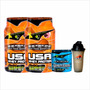 2 Usa Whey Protein Premium Htn + Creatina 200 Grs Marcacion