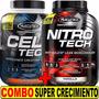 Combo Fuerza Y Musculos Marcados Nitro Tech 2 Lb + Cell Tech