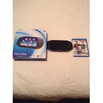 Ps Vita 8gb,caja,cargador,manuales Y Juego