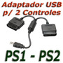 Cable Adaptador Doble Para Joystick De Ps2 A Usb Pc