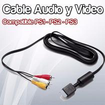 Cable Audio Y Video Playstation Ps2 Ps3 - Paso Del Rey