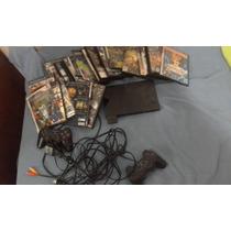 Play Station 2, Con Juegos, Volante Incluido Y Dos Controles