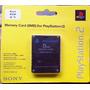 Memory Card Ps2 Sony Original En Blister 8mb Playstation 2