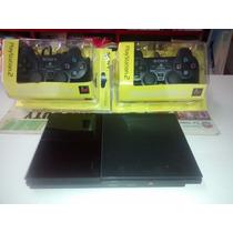 Play 2 En Buen Estado, Con 2 Joystick + 5 Juegos