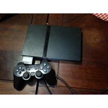 Playstation 2 Slim Ps2, Chipeada 2 Joysticks 50 Juegos