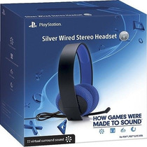 Auricular Headset Sony Silver Cable 7.1 Ps3 Ps4 Vita Local !