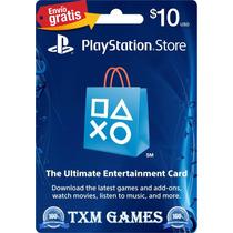 Psn Card 10 Playstation Ps3 Ps4 Psp Vita Microcentro