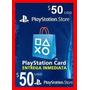 Psn Card U$$ 50 Usa Tarjeta Electronica Entrega Inmediata!!!