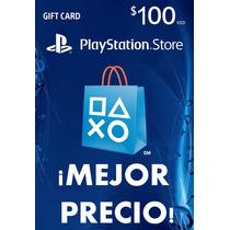 Playstation Card 100 Usd Ps3 Ps4psvita Playstore Mejorprecio