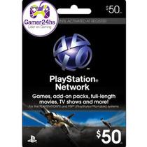 Psn Card Ps4 Ps3 50 U$ Tarjeta Electronica Entrega Inmediata