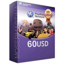 Código Psn Usa 60 Para Comprar Juegos Ps3, Ps4, Vita, Psp.