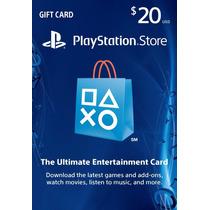 Tarjeta Psn Card 20 Usd 100% Calificaciones +++