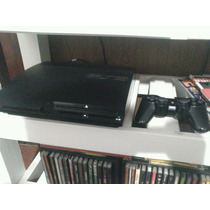 Playstation 3 Slim 160gb + Flasheada Multiman C/ Juegos