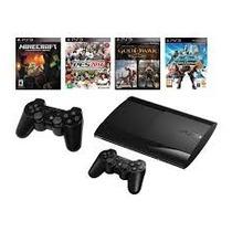 Play Station 3 Sony 12 Gb Con 2 Joystick Y 1 Juego