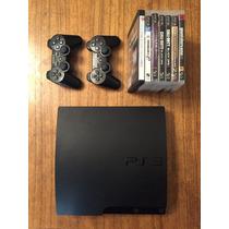 Playstation 3 500gb Ps3 2 Joystick 7 Juegos Fisicos Permuto