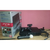 Playstation 3 Slim 320gb + Kit Move Y 1 Juego ¡¡impecable!!