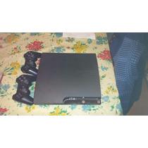 Ps3 Slim 120 Gb + 2 Joysticks + 8 Juegos (4 Físicos)