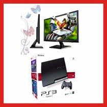 Ps3 320 + Monitor Lg Led 23 + 2 Joystick + 8 Juegos Permuto