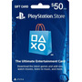 Playstation Psn Card Tarjeta 50 Usd Dolares Ps3 Ps4 Psvita
