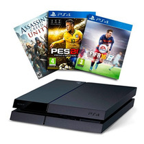 Playstation 4 Ps4 500gb Joystick Juego 12 Cuotas S/interes!!