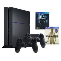 Playstation 4 500 Gb + Juego + 2 Joysticks Envio Gratis