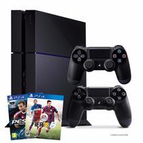 Super Combo Ps4 Consola+2controles+juego