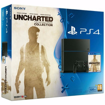 Playstation 4 Ps4 500gb + Uncharted Nathan Drake Collection
