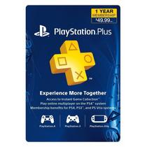 Tarjeta Plus 1 Año - Psn Ps4 Ps3 Sony