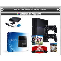 Super Combo Ps4+control Adicional +juego!!!!!