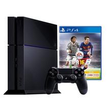 Playstation 4 500gb Ps4 + Juego Fifa 16 + Joystick + Hdmi