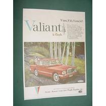 Publicidad Automoviles Chrysler Valiant Vino Vio Vencio