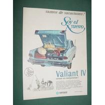 Publicidad Automoviles Chrysler Valiant 4 - Vacaciones