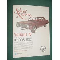 Publicidad Automoviles Chrysler Valiant 4 - Nuevo Garantia